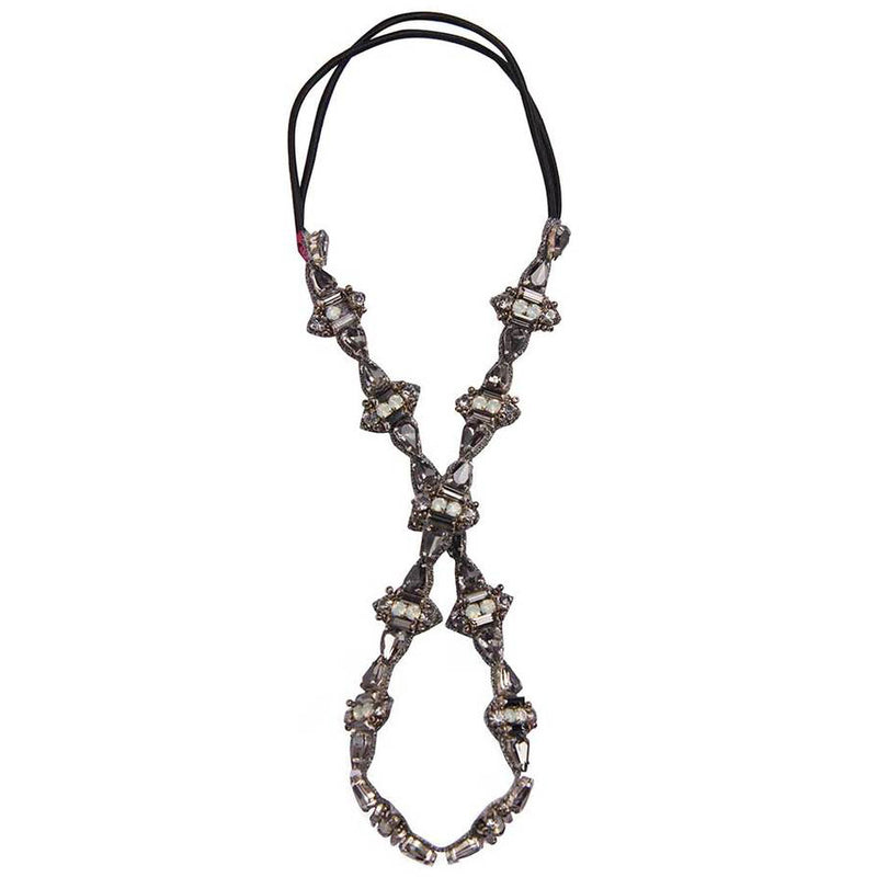 Deepa by Deepa Gurnani Handmade Alicia Headband in Gunmetal