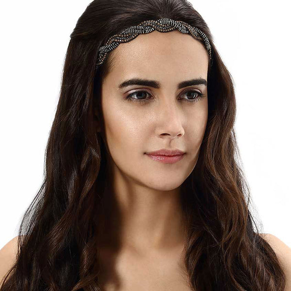 Model Wearing Deepa by Deepa Gurnani Handmade Kira Headband