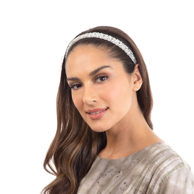 Complete your look with our handmade Silver Abela Headband