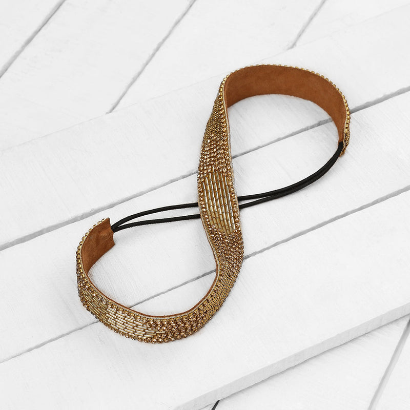 Deepa by Deepa Gurnani Handmade Marlee Headband on Wood Background