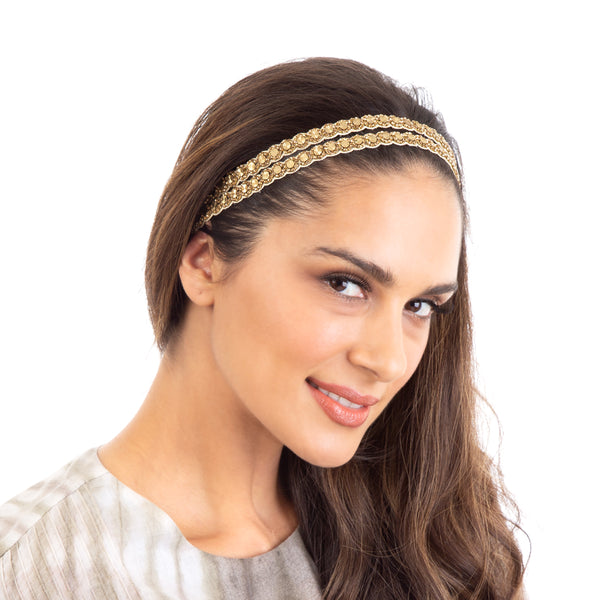 Double strand hand embellished headband