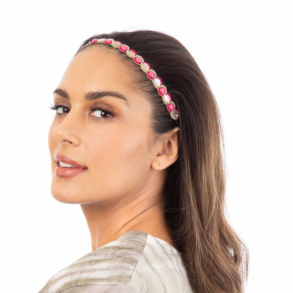 Beautifully hand embroidered headband by Deepa Gurnani