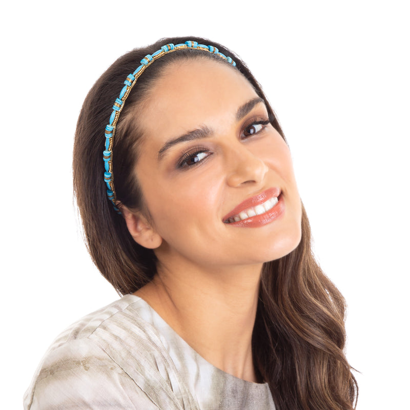 Hand Embroidered Headband by Deepa Gurnani