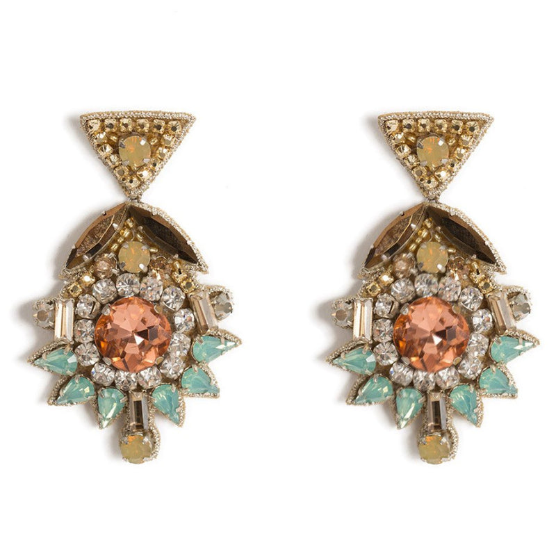 Deepa by Deepa Gurnani Handmade Willa Earrings in Gold