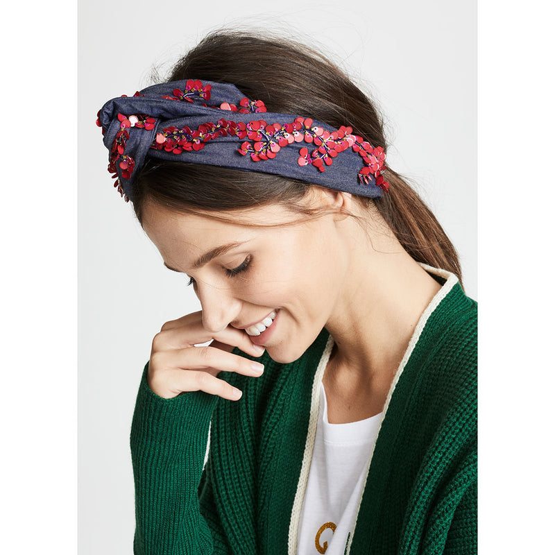 fairen denim headwrap