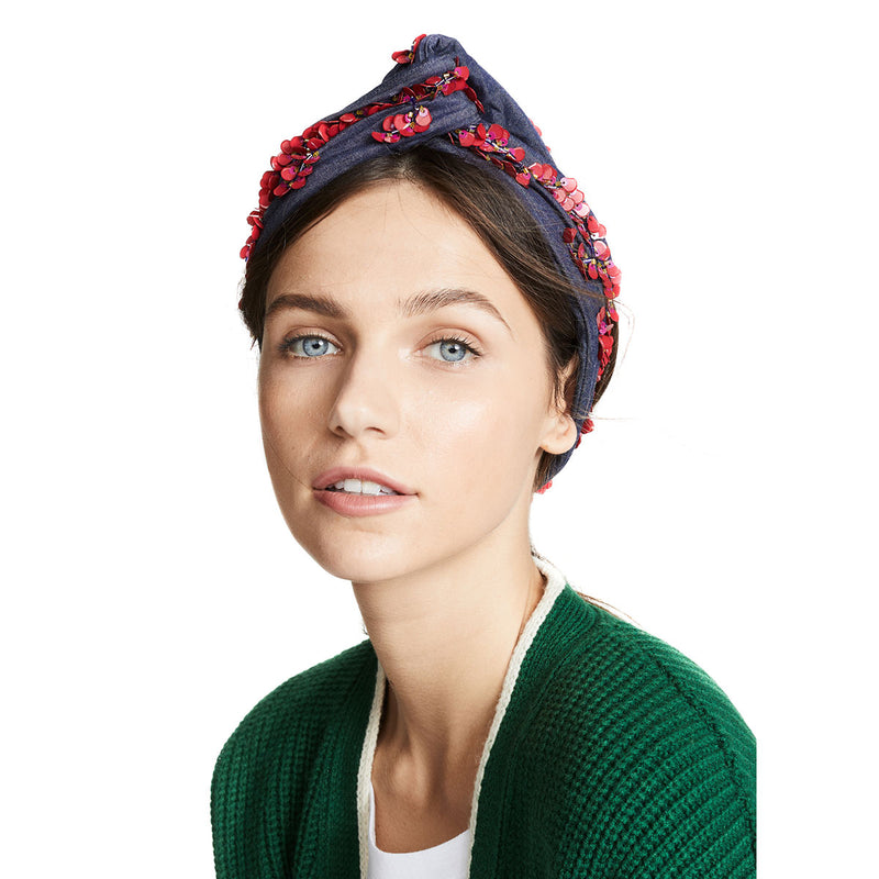 fairen denim handmade headwrap