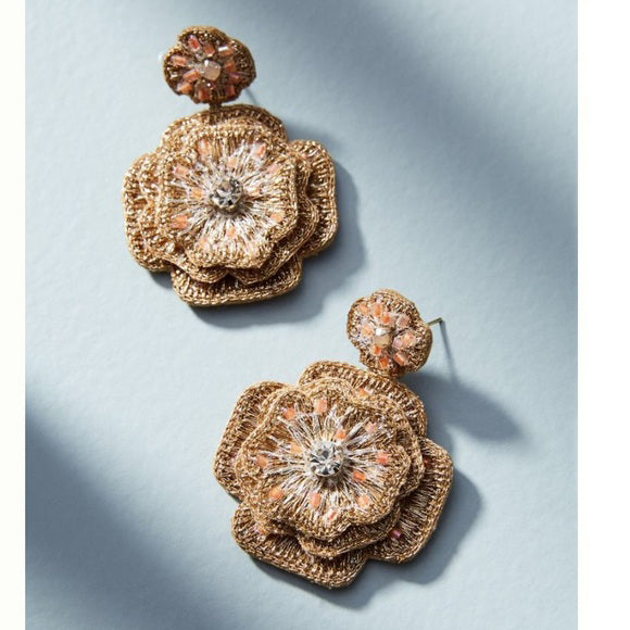 Unique floral earrings handmade by skilled artisans