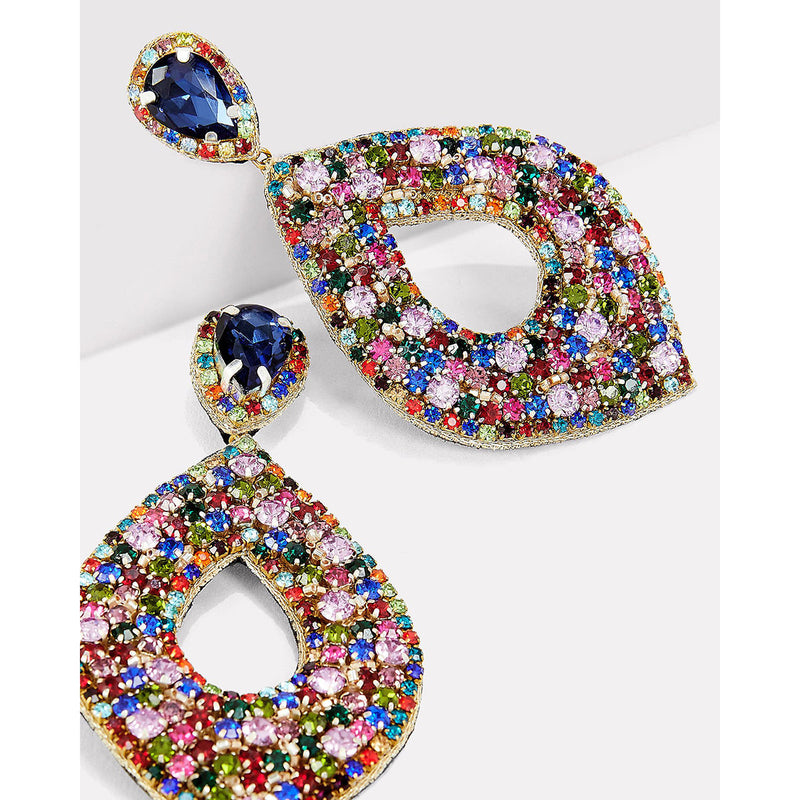 Multicolor statement earrings