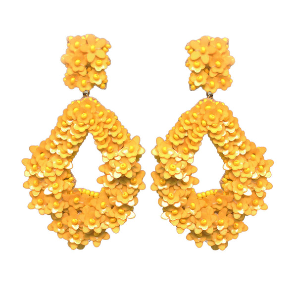 Sequins Earrings Yellow