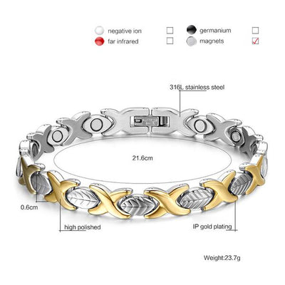 SW06 Women Silver Gold Magnetic Bracelet
