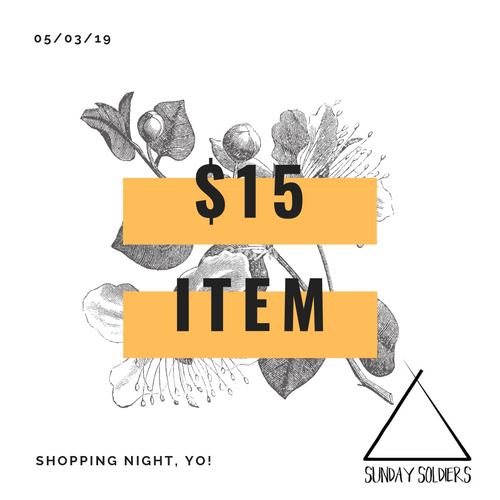 $15 SHOPPING NIGHT ITEM