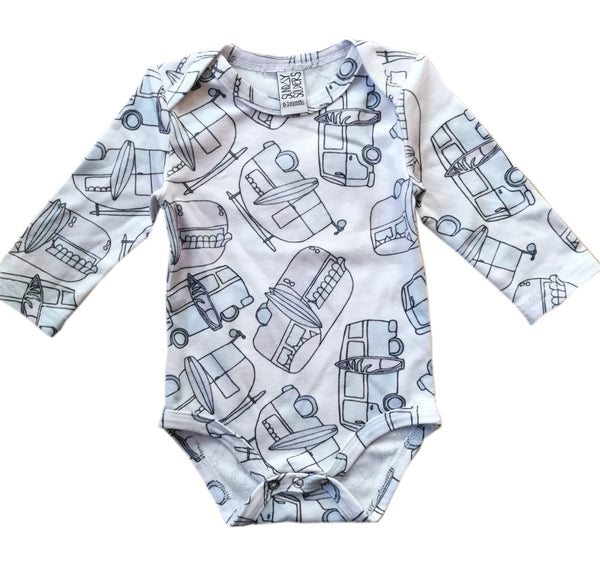 Caravans long sleeve onesie