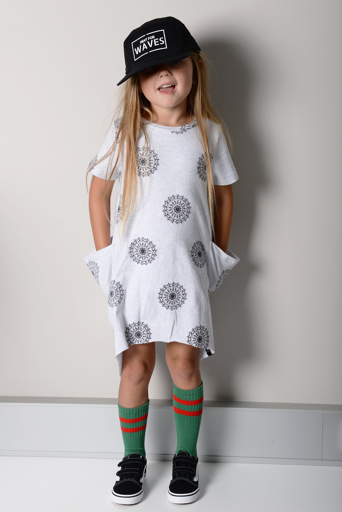 Mandala short sleeve dress