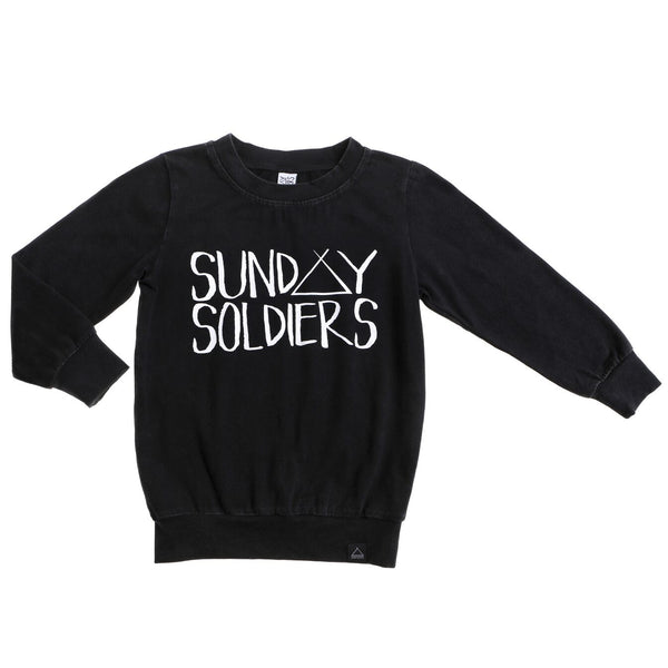 LOGO LIGHT JUMPER BLK ACID