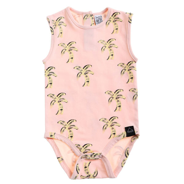 Retro palms tank bodysuit