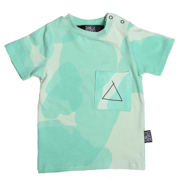 Spearmint basic pocket tee