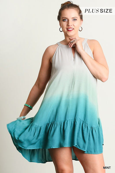 Dreamy Mint Key Hole Dress