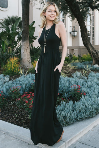 Easy Breezy Maxi- Black