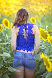 A Beautiful Crochet Top, Royal