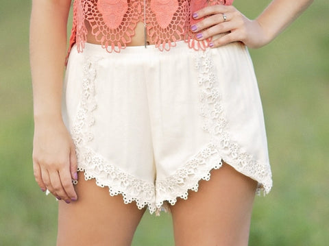 Day Dreaming Lace Shorts