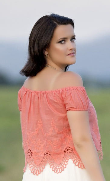 Such A Sweetheart Top, Coral