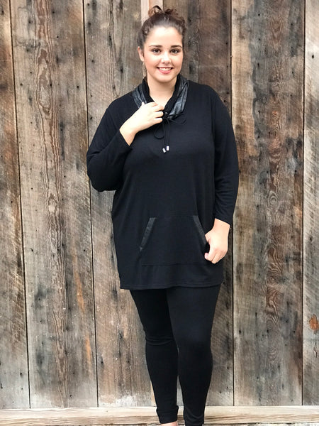 Curvy, plus size fall black sweater, The Gypsy Catwalk