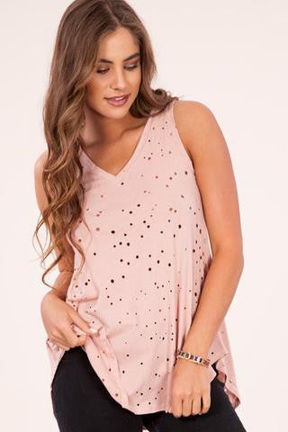 Plain doesn't have to mean bland. And the Transitioned Tank Jersey Knit Tee In Dusty Pink  is a prime example! Shop The Gypsy Catwalk Boutique local to Harrisonburg, VA (JMU) located in the beautiful Shenandoah Valley for the latest fashion styles and trends.