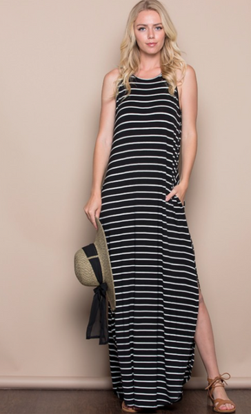 Drifting Tide Maxi- Black