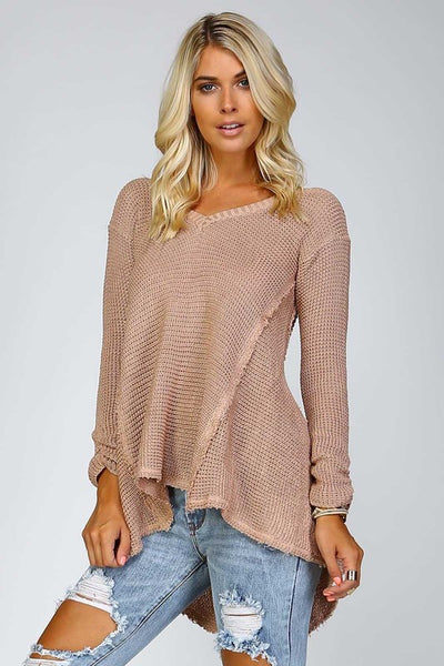 High/Low Blush Sweater