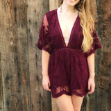 Nothing Short Of Stunning Romper, Wine