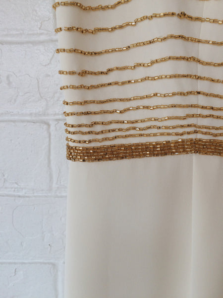 golden beaded dress
