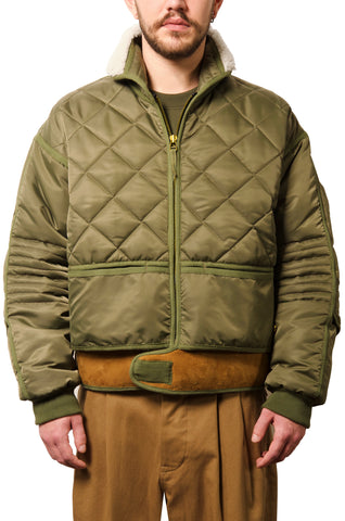 "032c WWB ""Chevignon by 032c"" Cosmo Jacket Green - 032c"