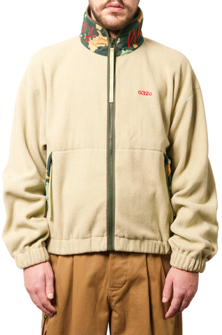 "032c WWB ""Chevignon by 032c"" Fleece Jacket Cement Green - 032c"