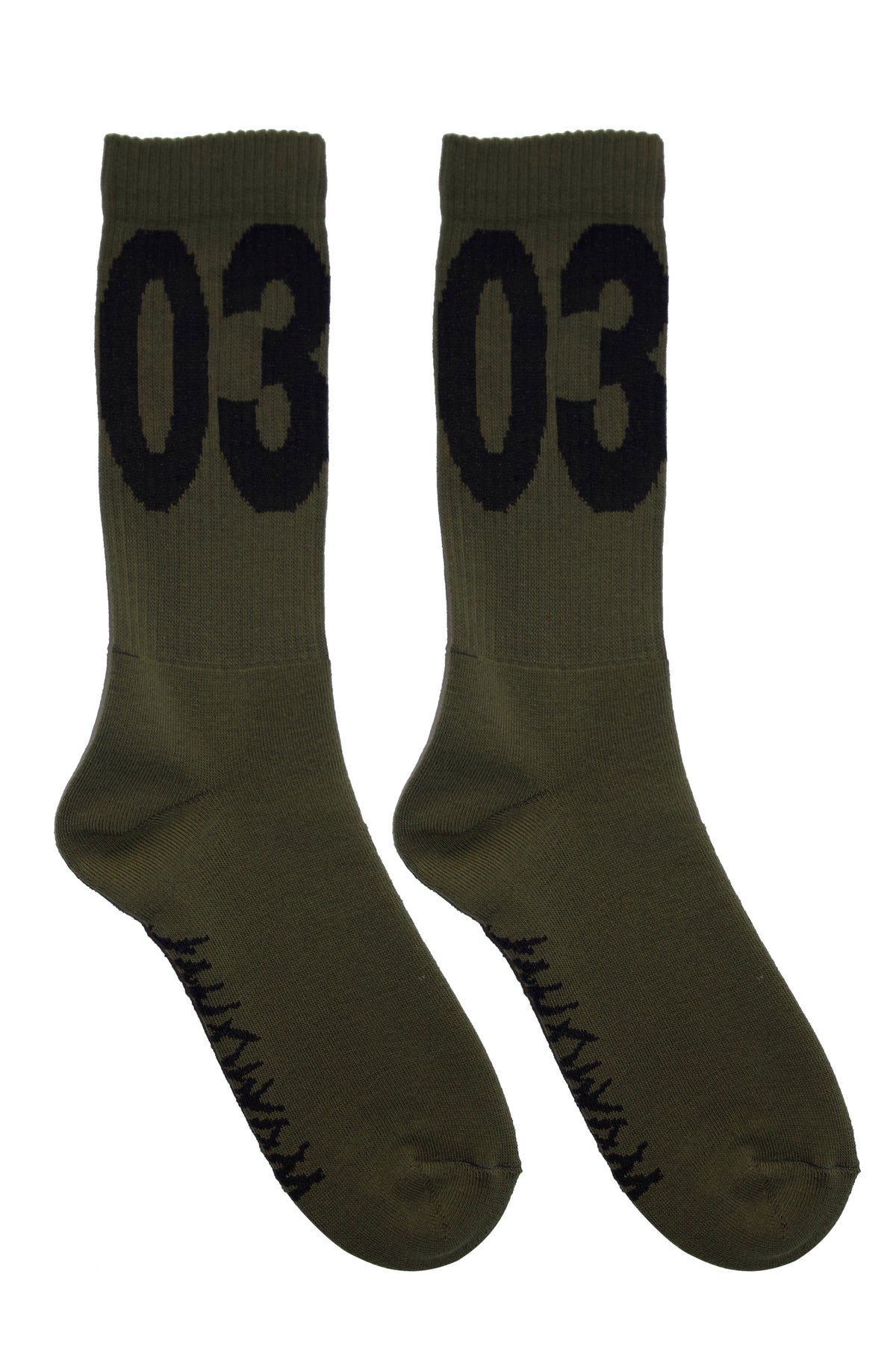 032c WWB 'MAX' Socks Washed Hunters Green/Black - 032c