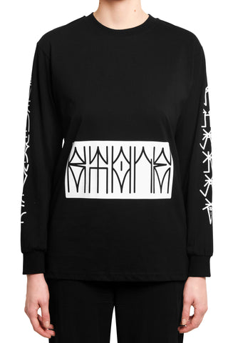 "032c BERLIN KIDZ ""THIRD EYE"" Longsleeve Black - 032c"