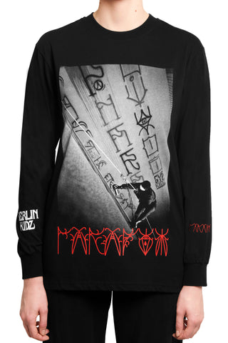 "032c BERLIN KIDZ ""ROPE ACTION"" Longsleeve Black - 032c"