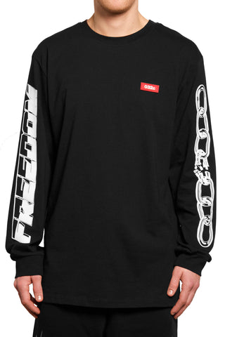 032c Motocross Longsleeve Freedom Black - 032c