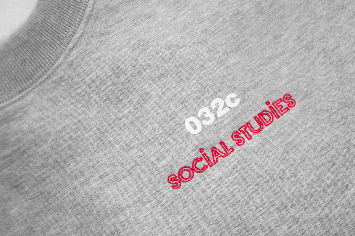 032c x Social Studies Religious Services Sweatshirt 3M Heather - 032c