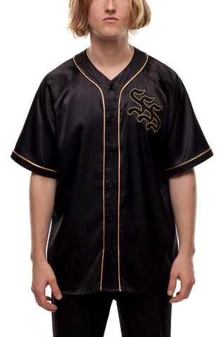 SSS World Corp Burt Baseball Jersey Old School Logo