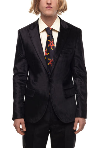SSS World Corp Velvet Gator Suit Jacket