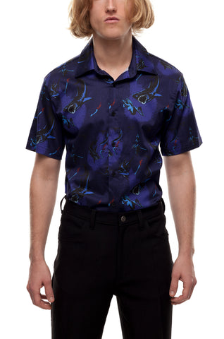 SSS World Corp Vice Short Sleeve Shark Attack Blue