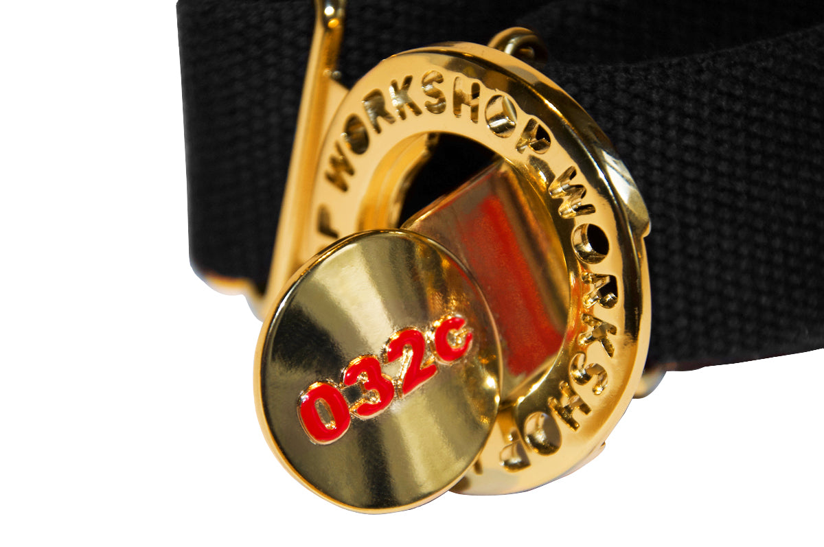 032c WWB Brooch Belt Black - 032c