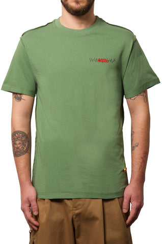 032c WWB T-Shirt Washed Hunters Green - 032c