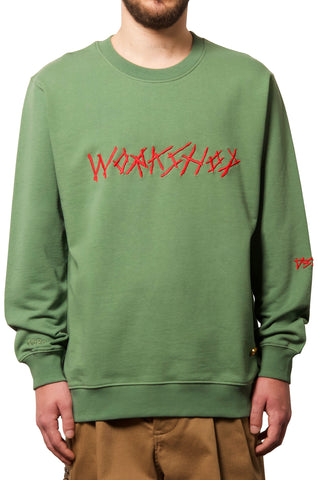 032c WWB Sweatshirt Washed Hunters Green - 032c