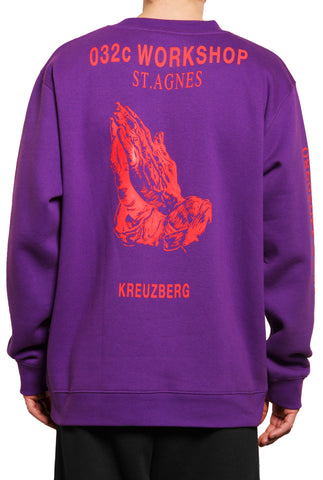 "032c ""Religious Services"" Sweatshirt Purple - 032c"