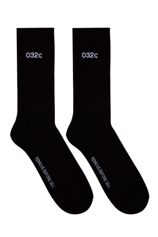 032c Socks REMOVE BEFORE SEX Black/White
