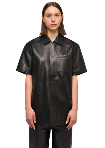 032c Système de la Mode Leather Short Sleeve