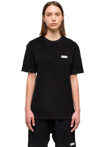 "032c Système de la Mode ""Topos"" Shaved Terry T-Shirt Black"