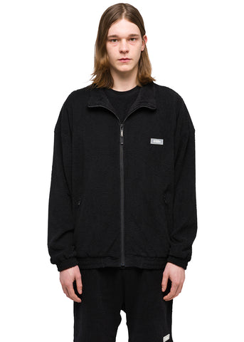 "032c Système de la Mode ""Topos"" Shaved Terry Jacket Black"