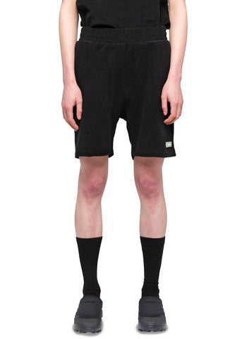 "032c Système de la Mode ""Topos"" Shaved Terry Shorts Black"